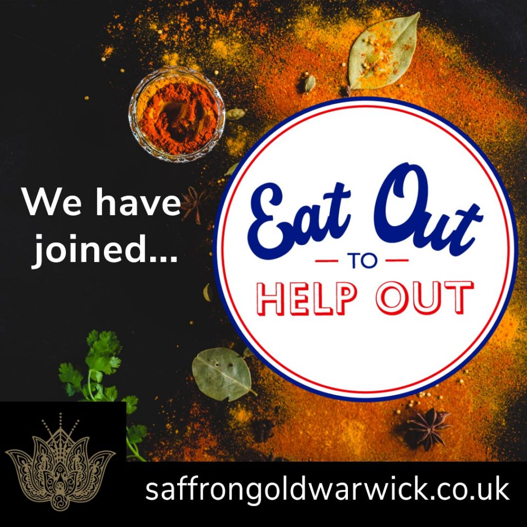 Saffron Gold Eat Out to Help Out